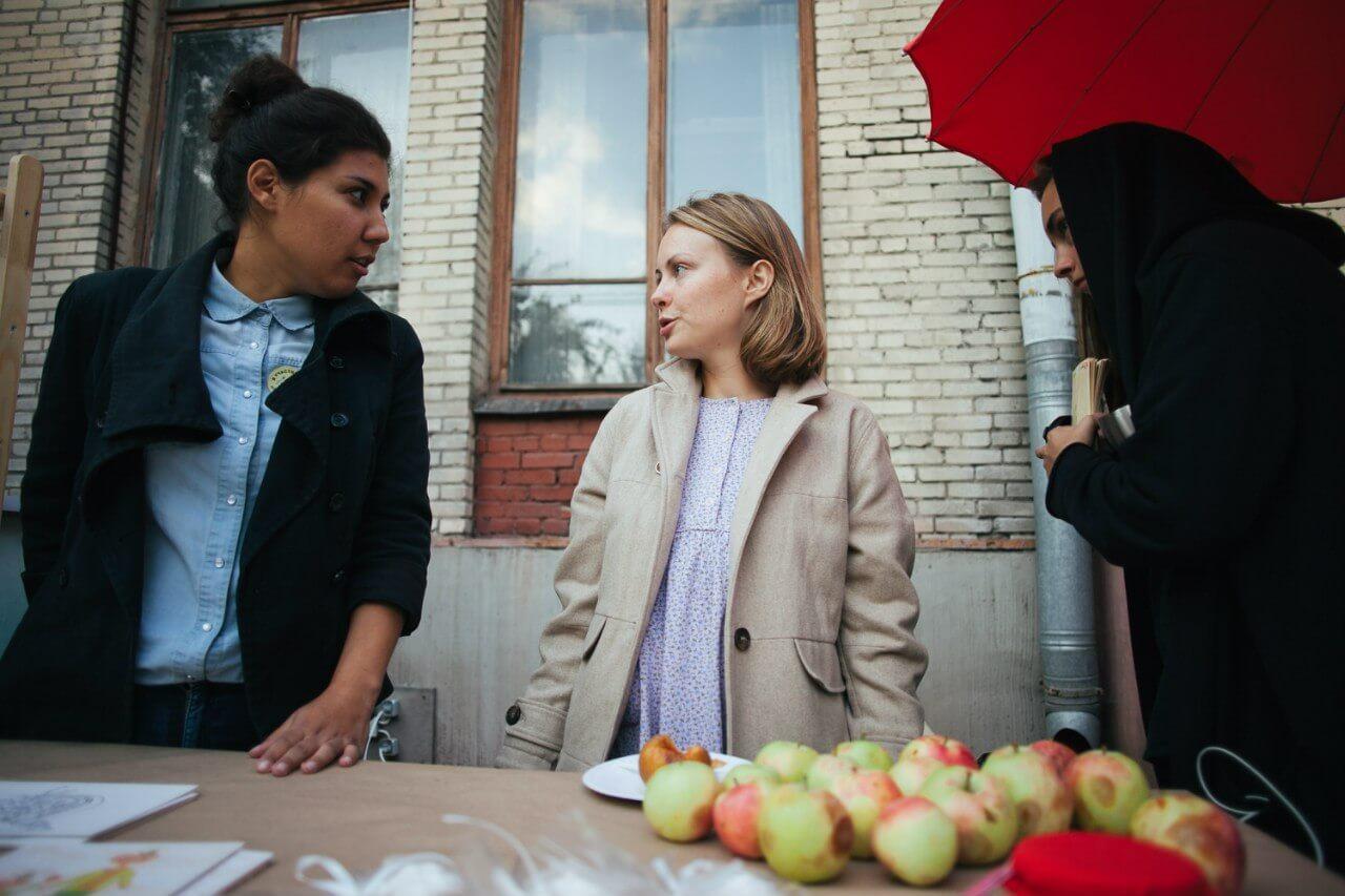 Ольга Полякова на дне яблок