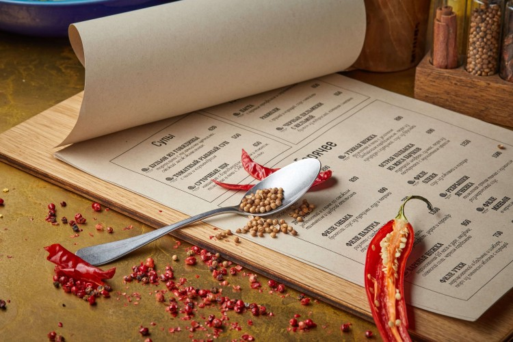 меню ресторана Spices
