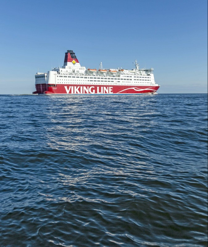 viking line паром и солнце