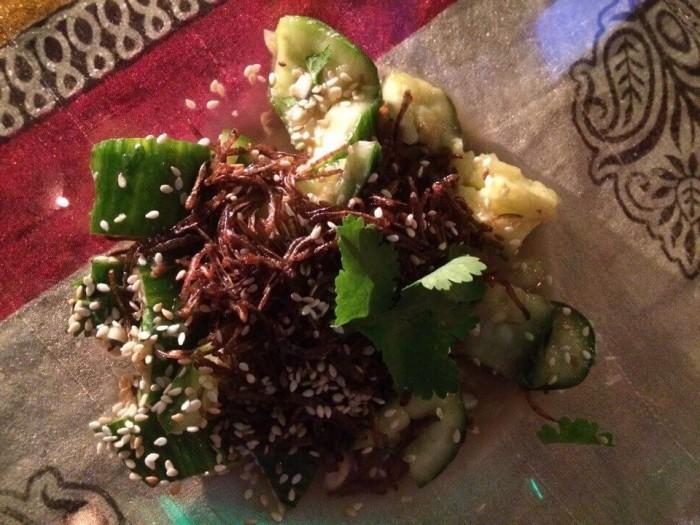 салат с червями