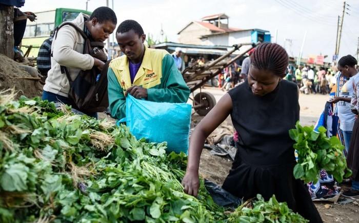 рынок в Кении