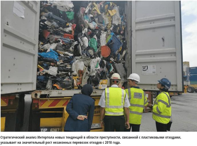 интерпол пластиковый мусор