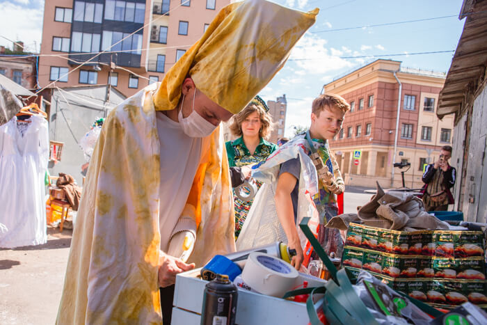 мусорное дефиле СПб папа римский (1)