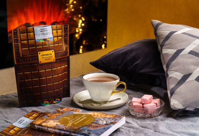 горячий шоколад с императорским женьшенем Coffeecell и зефир