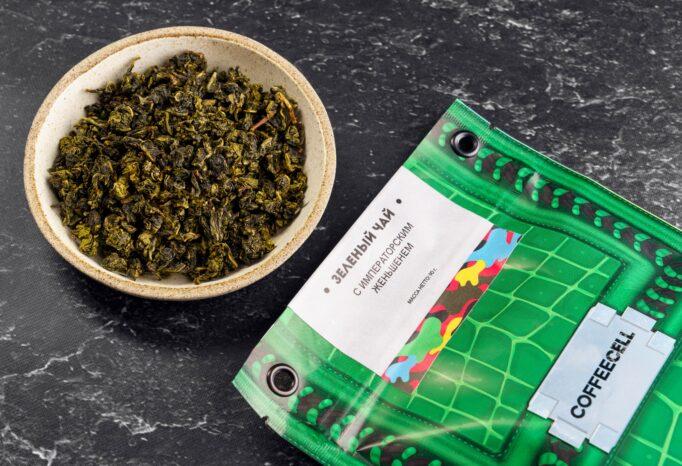 зеленый чай с императорским женьшенем Coffeecell