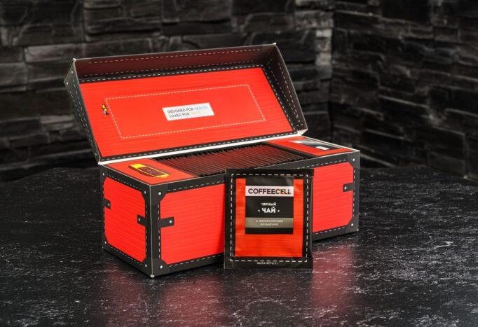 чай с императорским женьшенем Coffeecell в упаковке