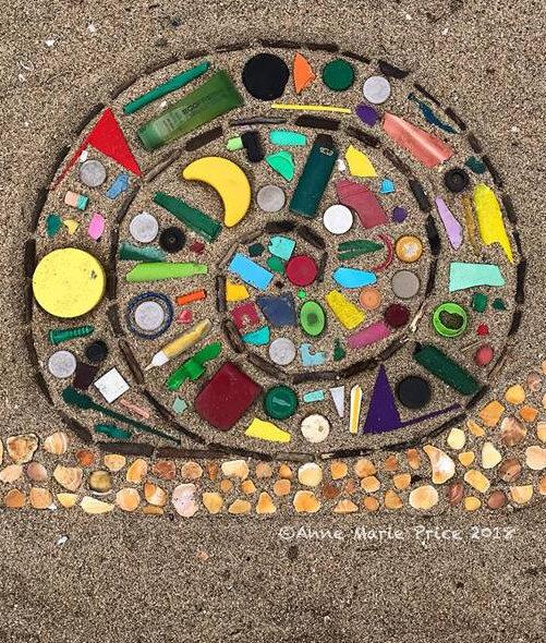 Анн Мари Прайс мозаика из мусора