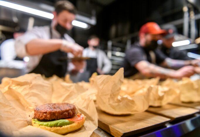бургер с растительным мясом