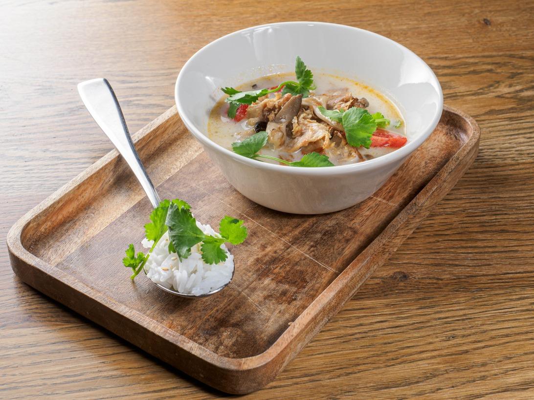 суп с растительным мясом