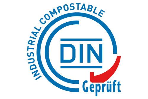 сертификат DIN Geprüft Industrial Compostable