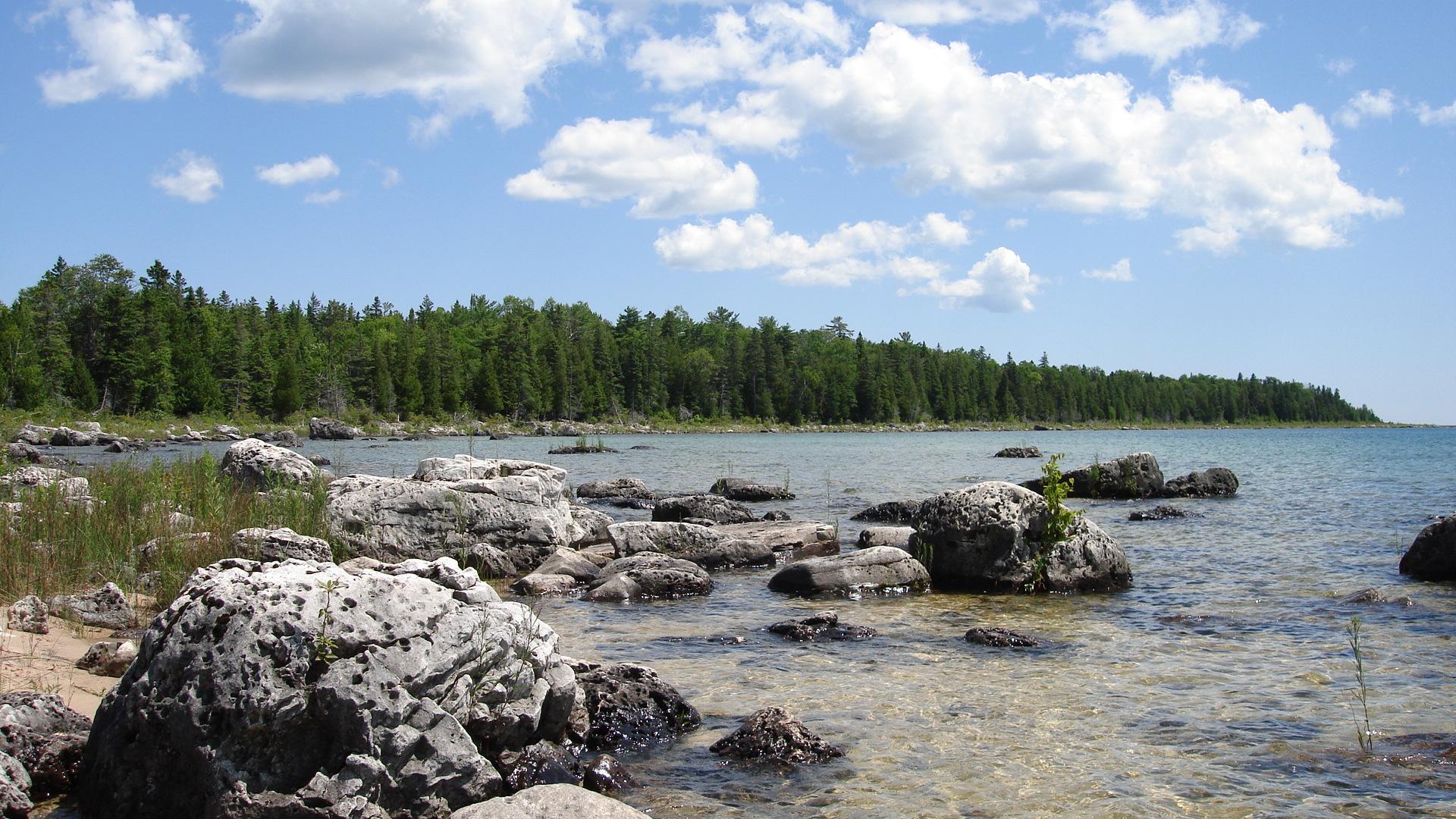 Озеро Гурон Lake_Huron_from_Upper_Peninsula