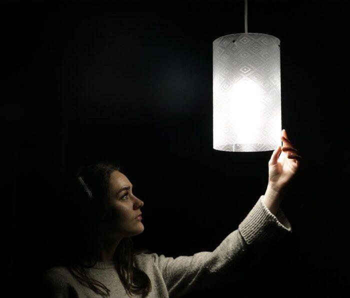 лампы из пластиковых отходов на 3д принтере