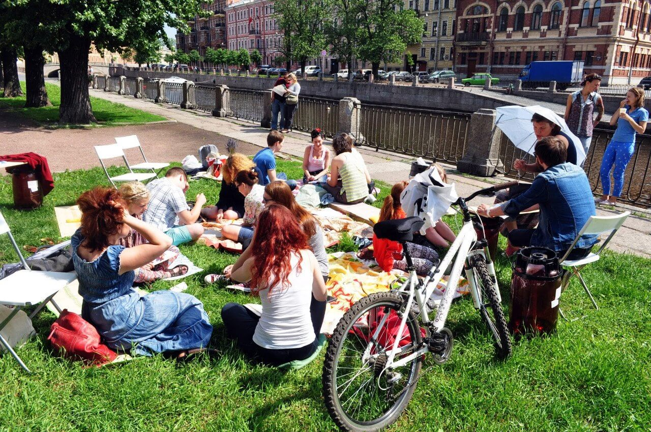 пикник трава