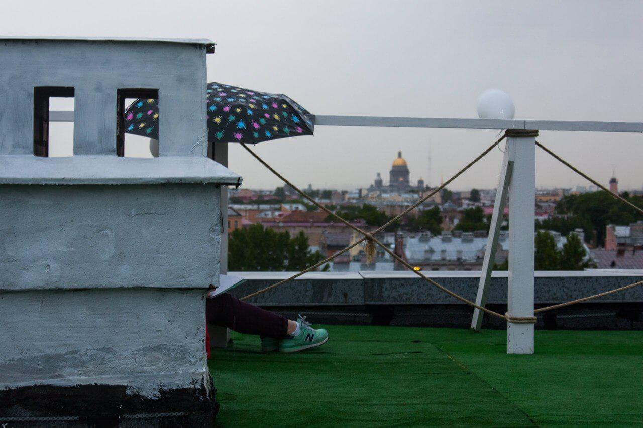 пикник на крыше