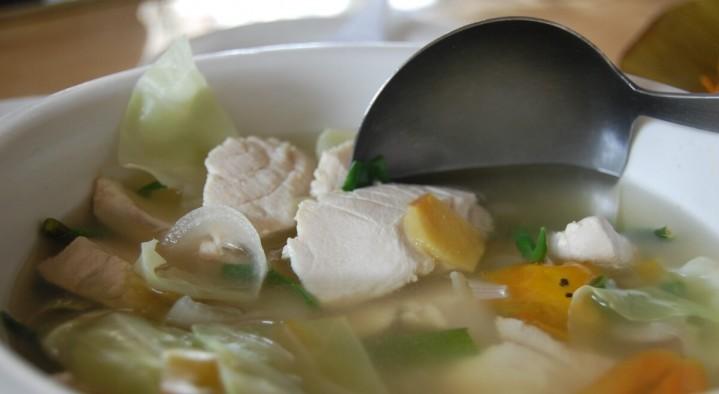 Речной окунь суп